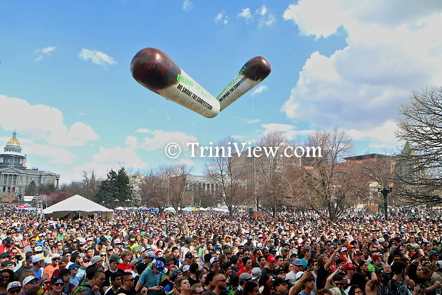 Cross-section of the 4/20 rally