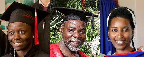 Dr. Nakandi Galabuzi, Dr. Oba Ranu and Leslie-Ann Paul