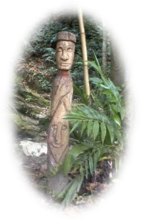 Totem in Orisha Shrine
