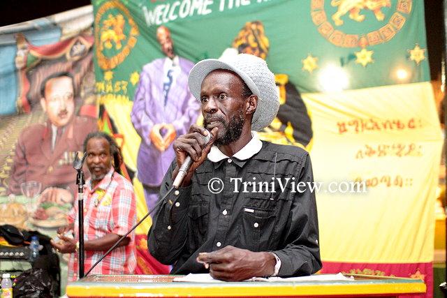 Bongo Jack addresses the Gathering
