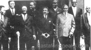 Haile Selassie I with the CASABLANCA SECTION OF THE ORGANIZATION FOR AFRICAN UNITY
