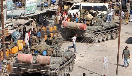 Ethiopian tanks in Somalia